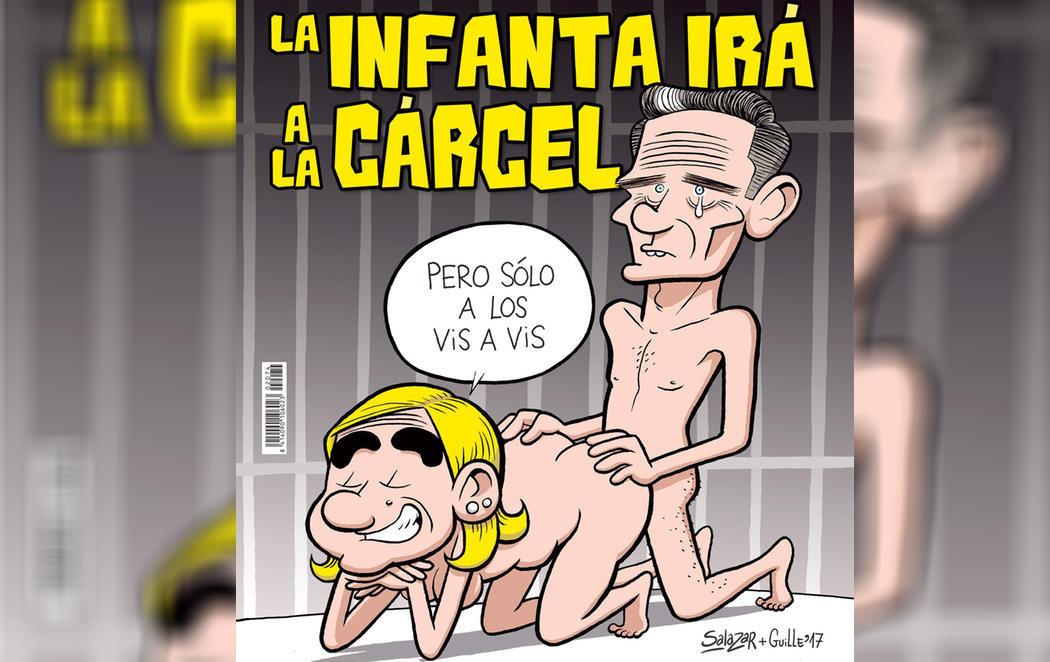 El Jueves retrata a la infanta Cristina y a Urdangarín teniendo sexo en la cárcel
