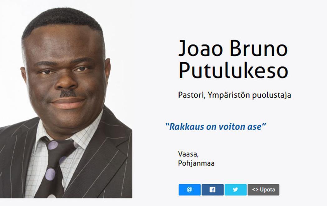 """Un """"Hitler negro"""" para lavar la imagen de la ultraderecha finlandesa"""