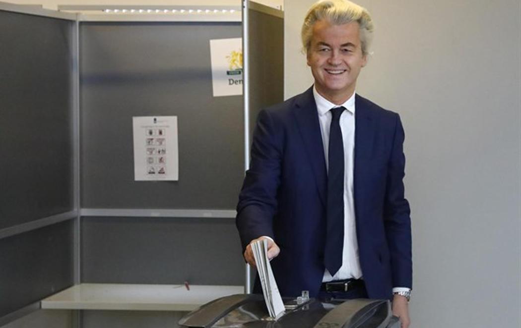 Wilders vota en La Haya y promete un referéndum contra la UE