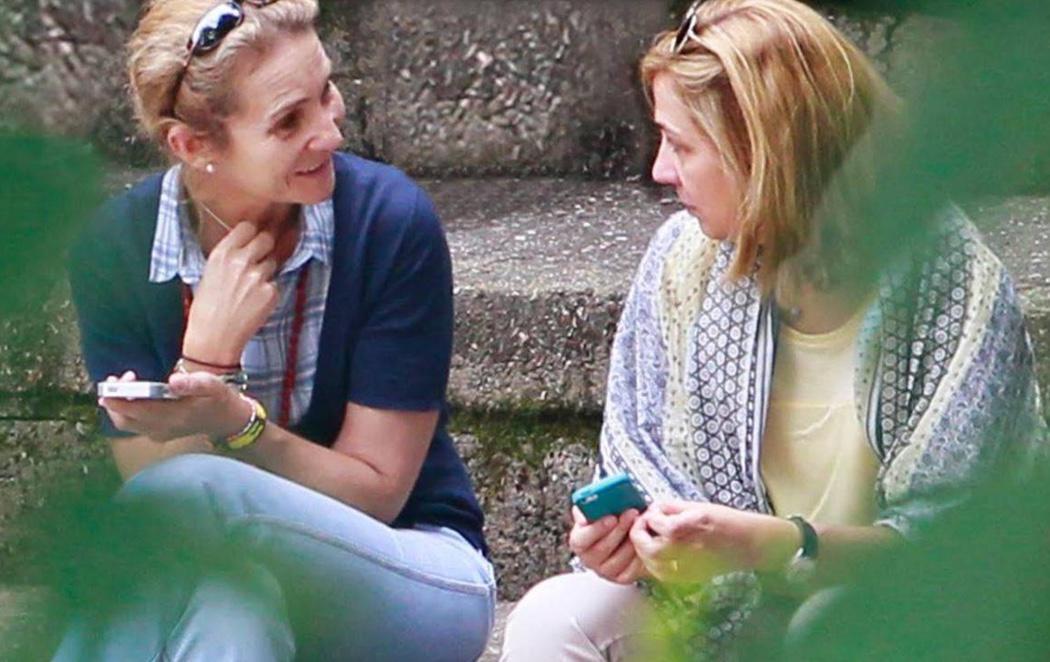 La Infanta Cristina y Urdangarín disfrutan del buen tiempo en Ciudad Real