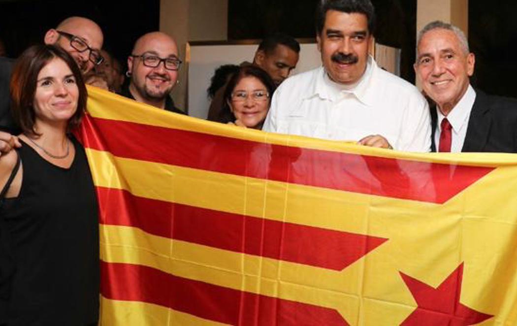 Maduro se muestra leal a la causa independentista en Cataluña