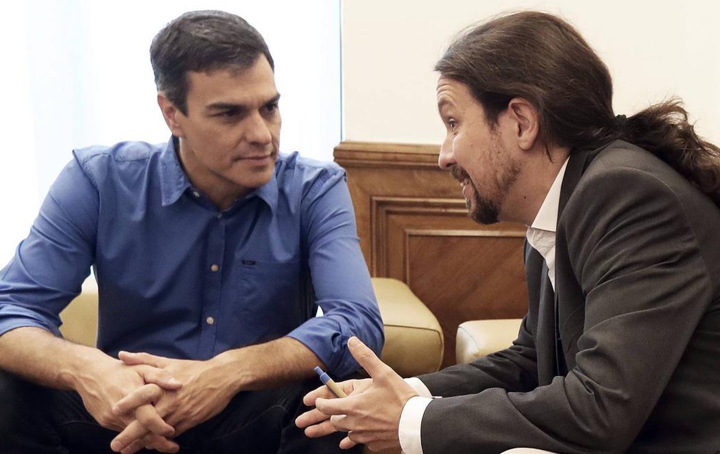 Pedro Sánchez y Pablo Iglesias se reúnen para articular una alternativa al Gobierno de Rajoy