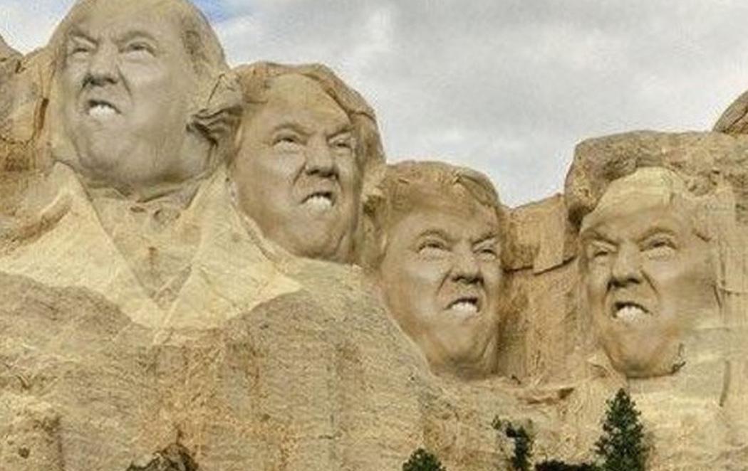 Trump bromea con aparecer en el monte Rushmore y las redes arden