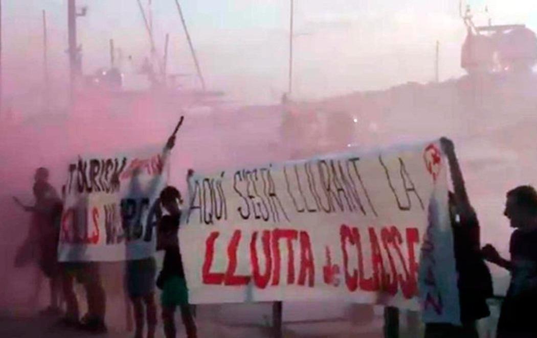 Arran, grupo vinculado a la CUP, organiza un ataque contra turistas en Palma de Mallorca