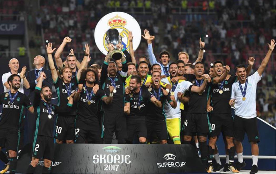 El Real Madrid revalida la Supercopa de Europa tras ganar al Manchester United