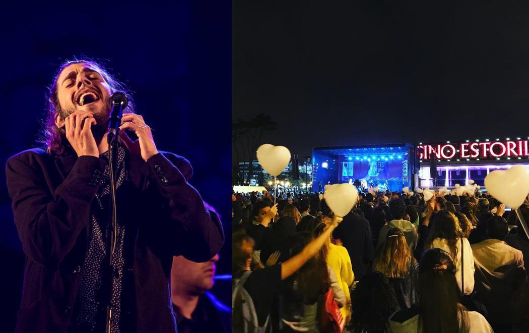 Miles de corazones blancos despiden a Salvador Sobral por sus problemas de salud