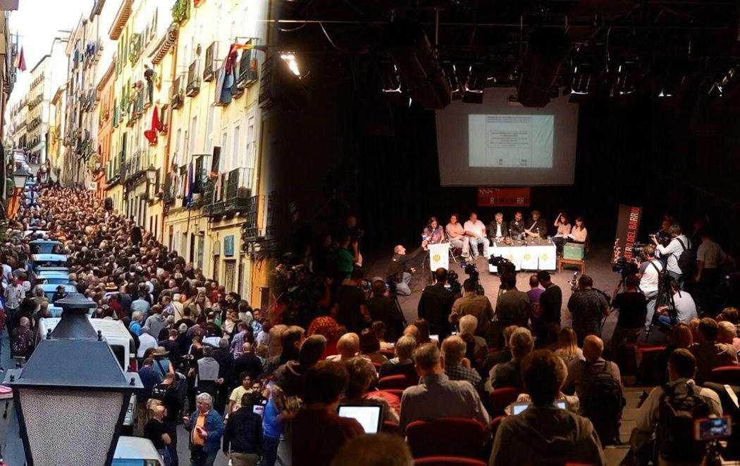 Éxito rotundo del acto a favor del Referéndum catalán en Madrid