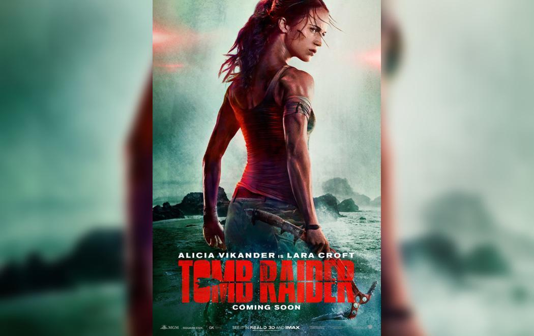 Exceso de photoshop en el cuello de Alicia Vikander, la actriz que hará el remake de Lara Croft