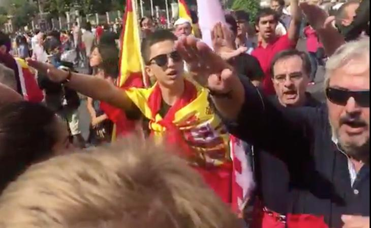La extrema derecha se apropia de la manifestación a favor de la unidad de España en Madrid