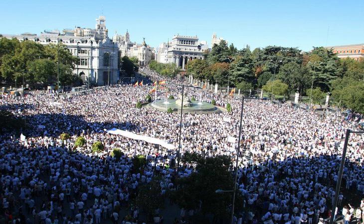 Manifestaciones en toda España y el extranjero para reclamar diálogo en Cataluña