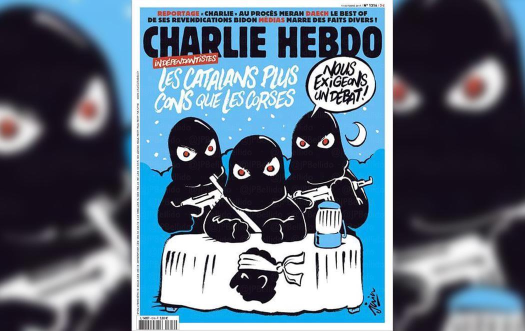 La revista Charlie Hebdo se burla de los independentistas catalanes
