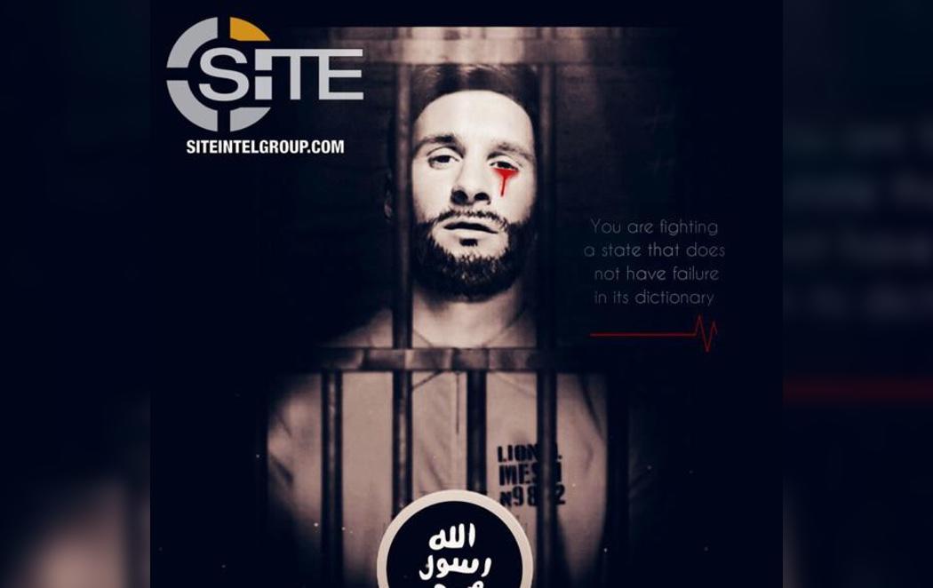 El Daesh amenaza al Mundial de Fútbol de Rusia de 2018 con una imagen de Messi llorando sangre
