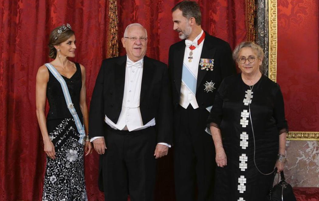 El presidente de Israel destaca la unidad de España en su cena con Felipe VI y Letizia