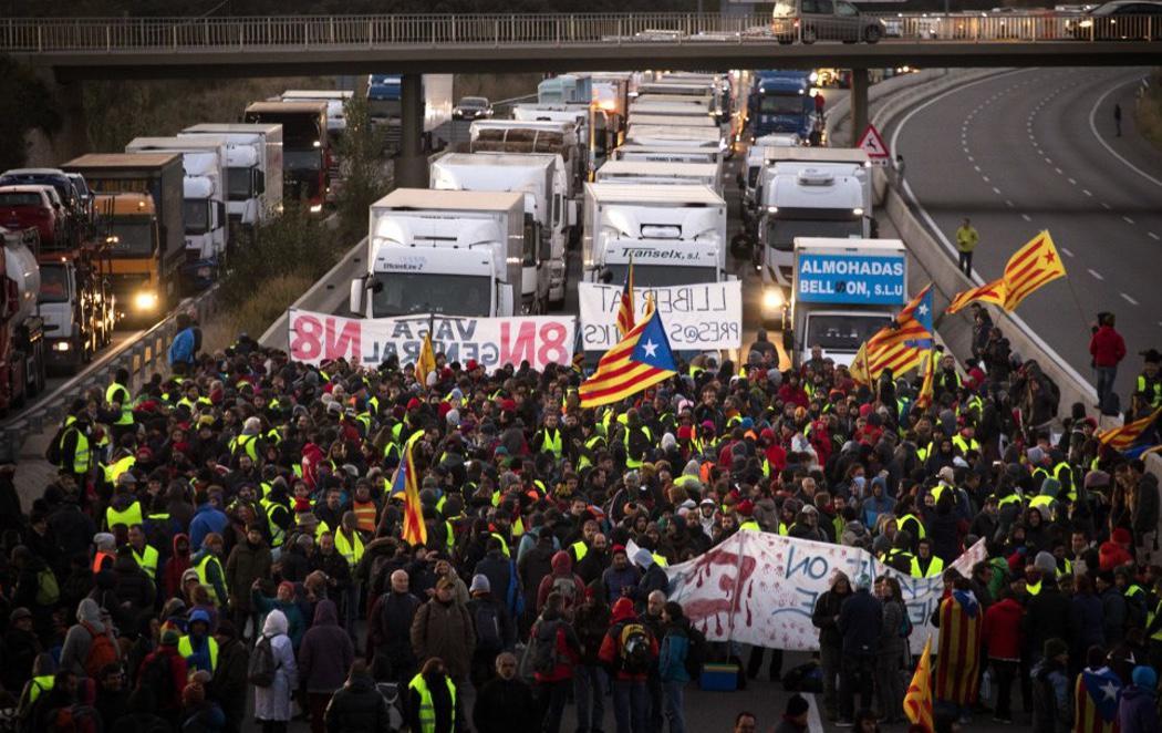 Cataluña vive otra jornada de huelga general con un menor seguimiento