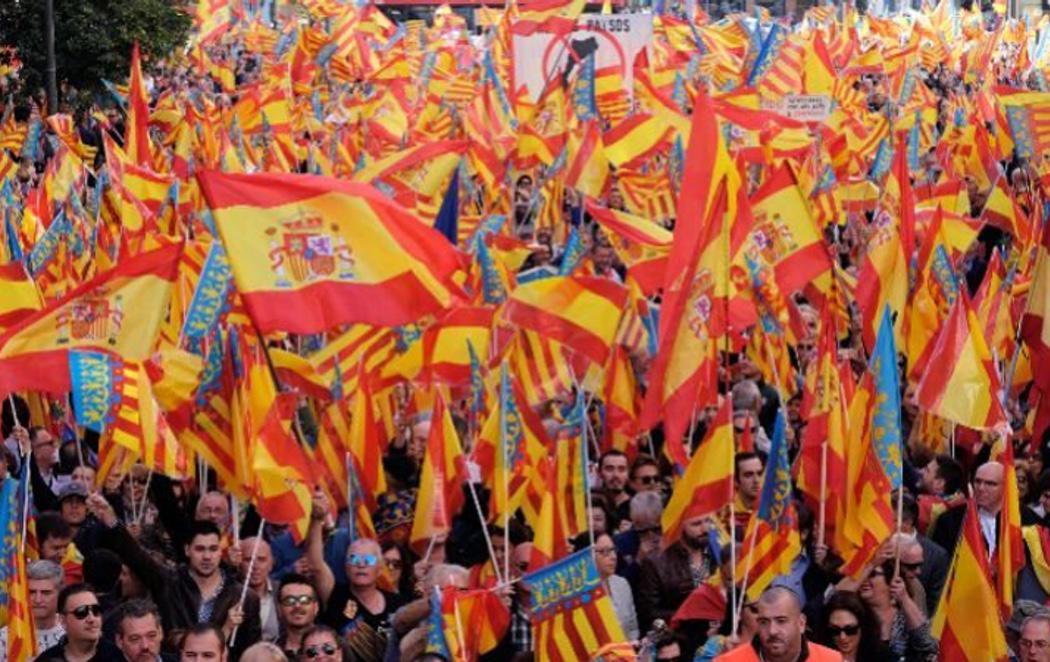 """""""No als països inventats"""": Valencia sale a la calle contra el """"nacionalismo catalanista"""""""