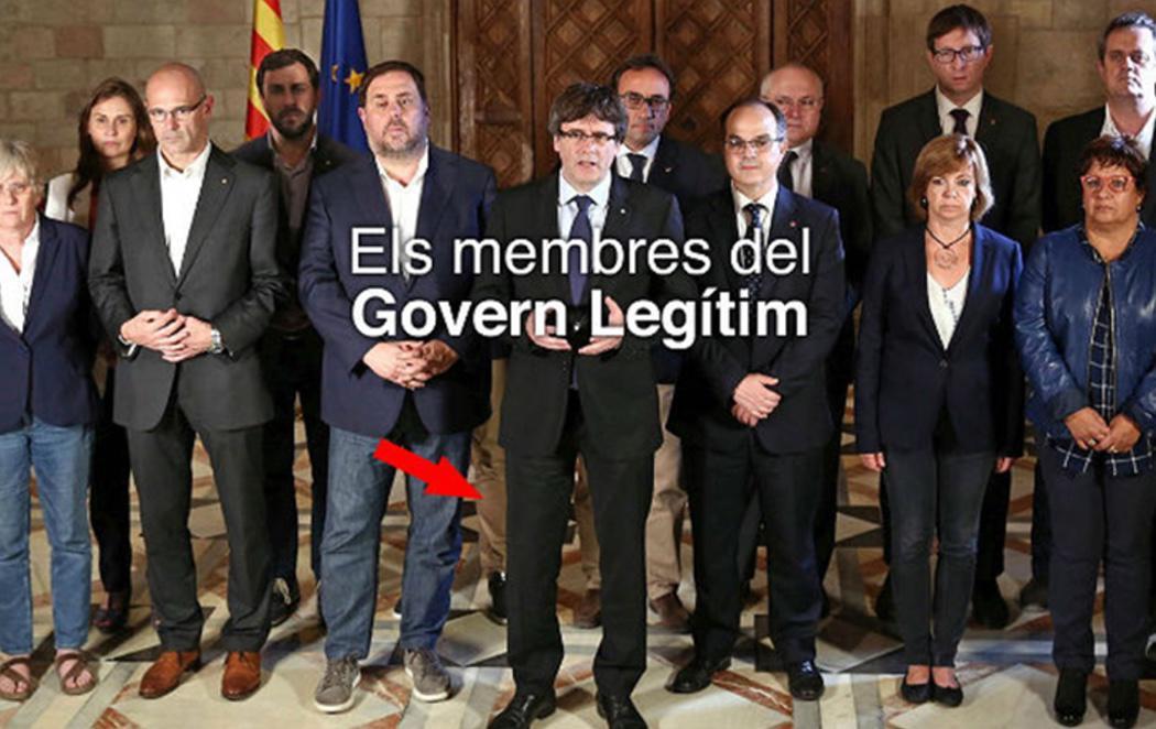Borran a Santi Vila del 'Govern Legítim' por no apoyar la DUI... y se dejan su pierna