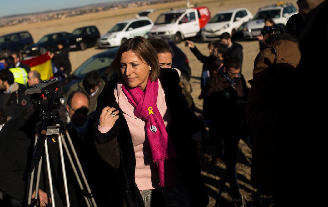 ERC cierra su campaña electoras frente a la cárcel de Estremera