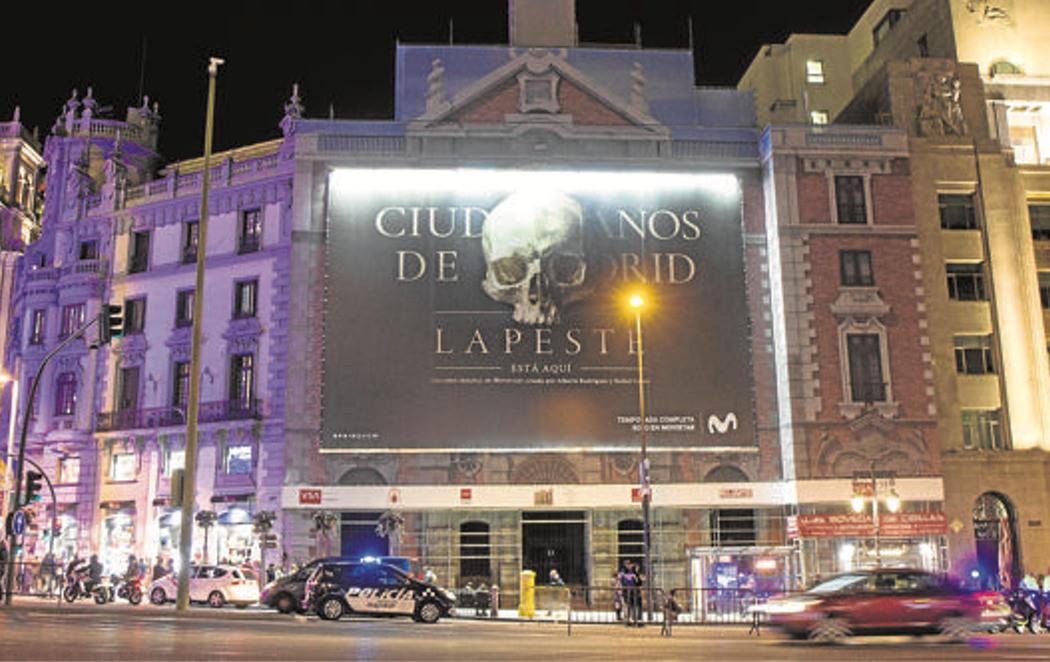 """Polémico anuncio en una iglesia del centro de Madrid: """"'La peste' está aquí"""""""