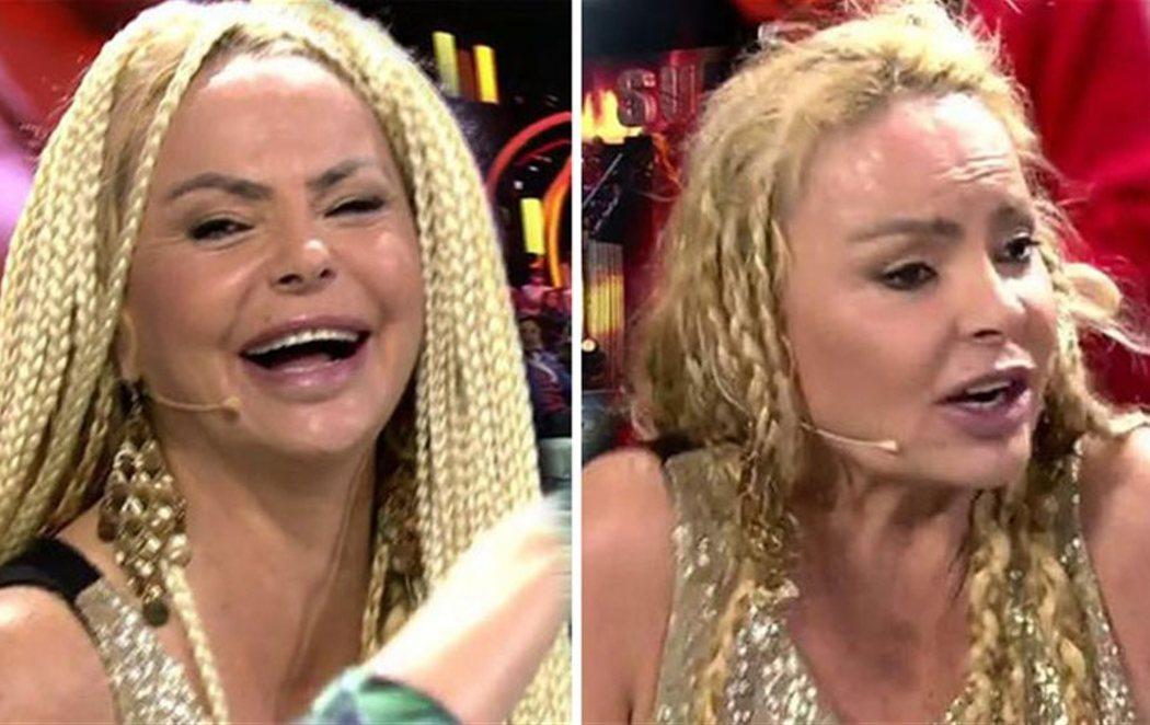 Humillación en directo: Nacho Montes le arranca la peluca a Leticia Sabater  en el plató de 'Supervivientes 2018'