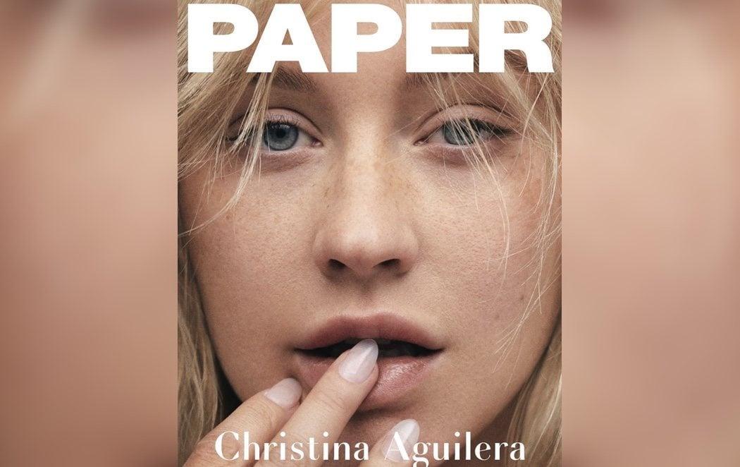 Christina Aguilera posa sin maquillaje y sorprende a Internet