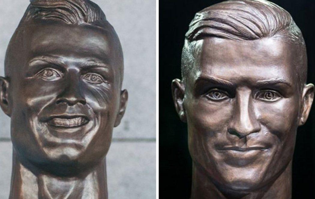 El escultor del polémico busto de Cristiano Ronaldo realiza una versión mejorada