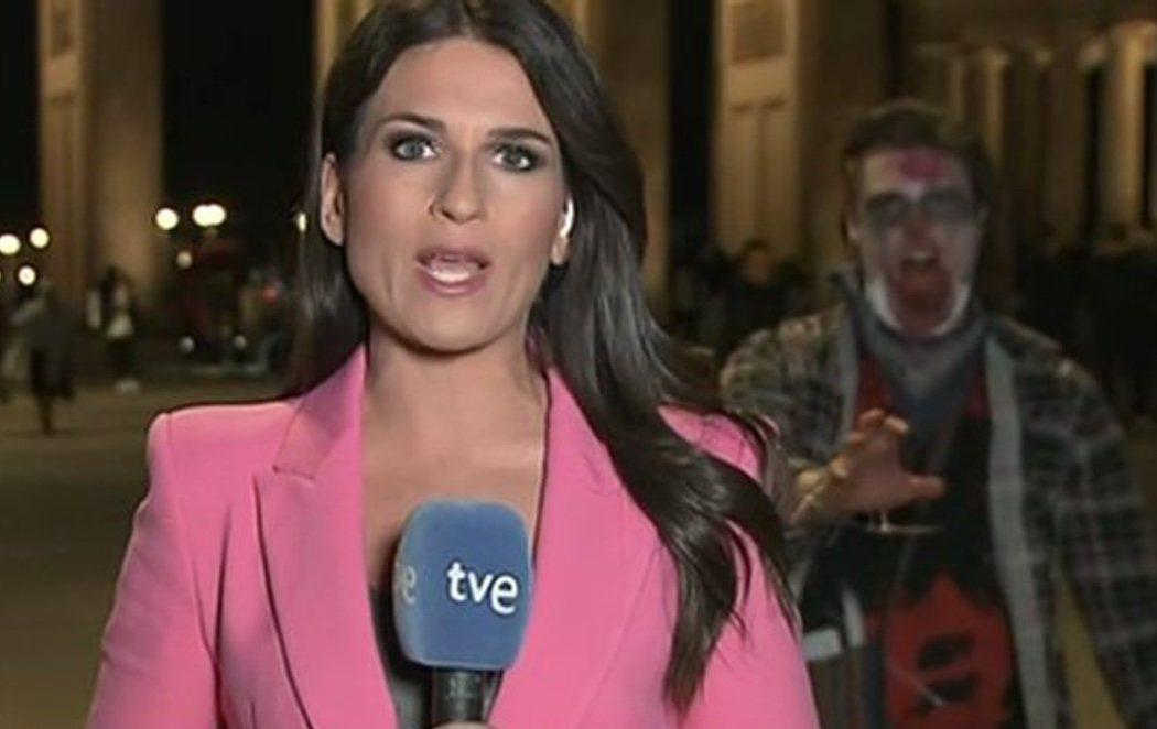 Un zombie se cuela en el 'Telediario' de La 1 en Berlín