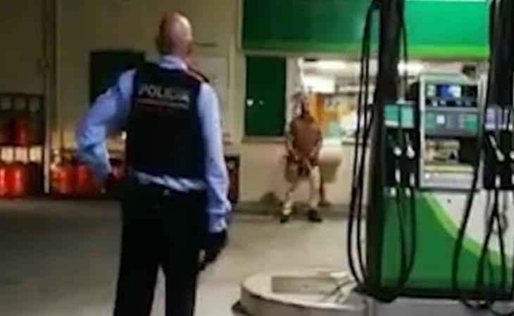 Detenido tras encararse a los Mossos armado con una motosierra y un machete