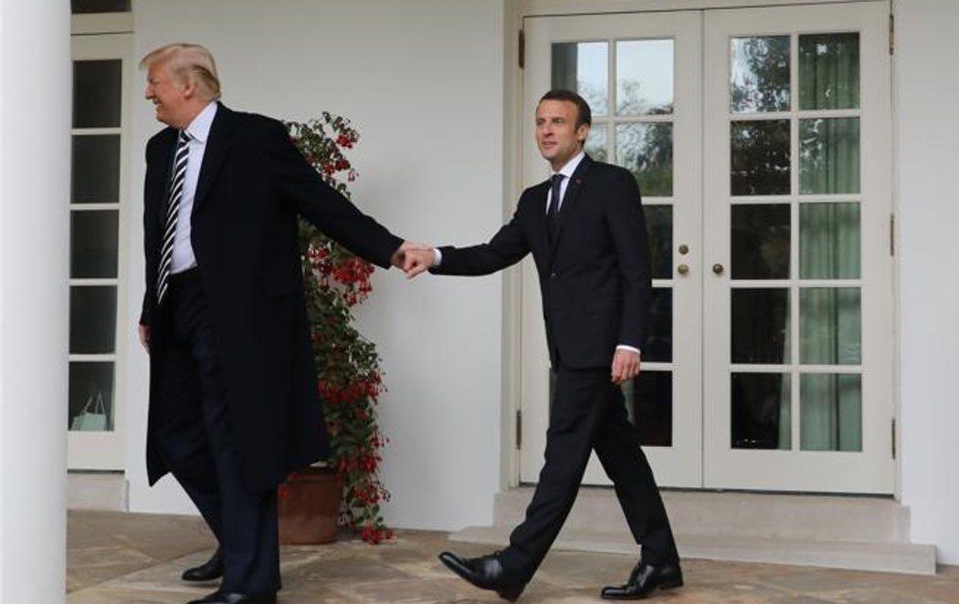 Macron acude a la Casa Blanca y escenifica su gran relación con Trump