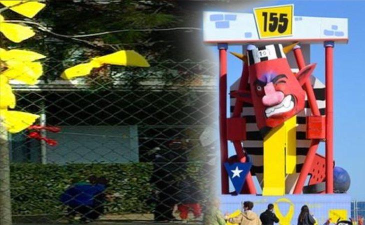 Lazos amarillos, cánticos, esteladas... las denuncias de adoctrinamiento se multiplican en Cataluña
