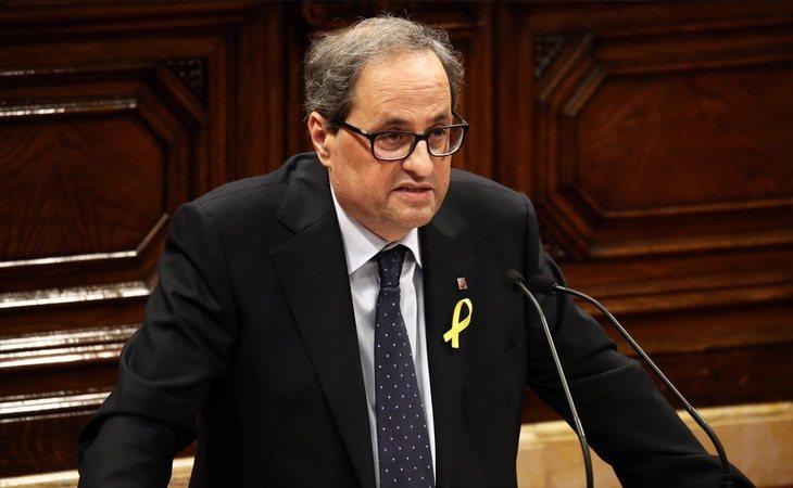 """El sucesor de Puigdemont promete seguir: """"Pienso trabajar sin descanso para lograr la república catalana"""""""