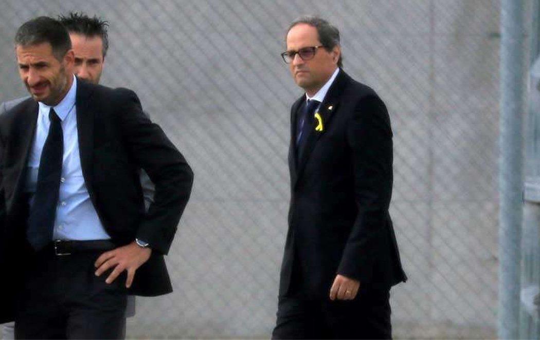 Quim Torra visita a los independentistas en la cárcel