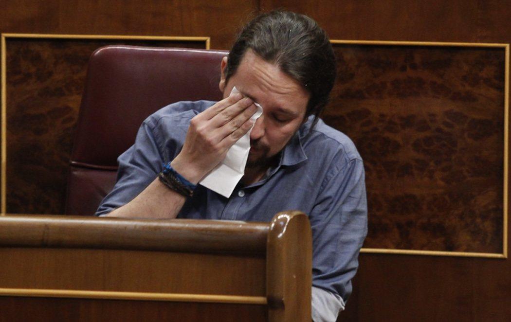 Pablo Iglesias rompe a llorar en el Congreso al hablar de las torturas de Billy el Niño