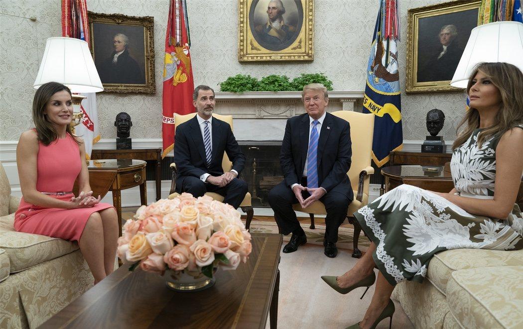 Los reyes visitan la Casa Blanca en medio de la polémica por la política migratoria de EEUU