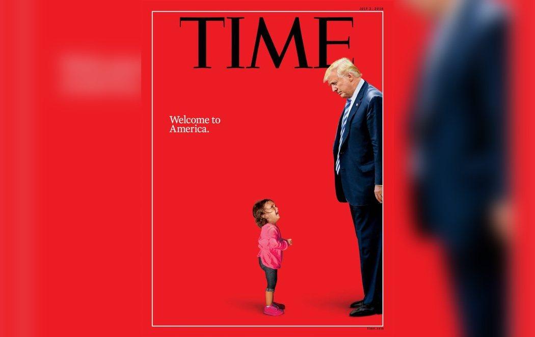 La revista Time enfrenta a Trump con una desolada niña migrante en su última portada