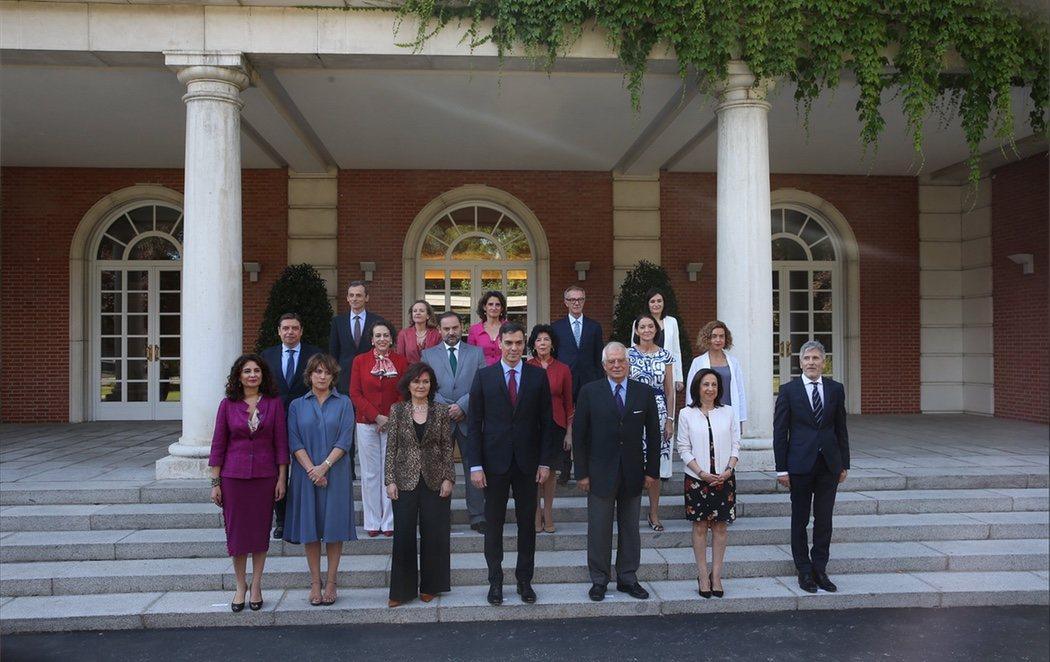 Nueva foto del Gobierno de Pedro Sánchez tras la dimisión de Màxim Huerta