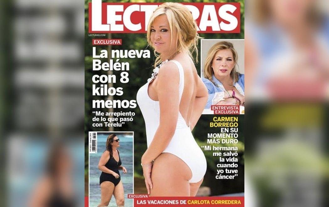 Polémica por la nueva portada de Belén Esteban cargada de photoshop
