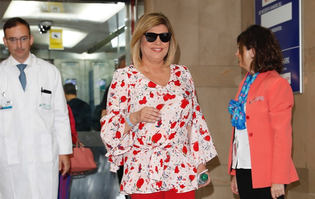 Terelu Campos recibe el alta hospitalaria tras ser operada por segunda vez de cáncer de mama