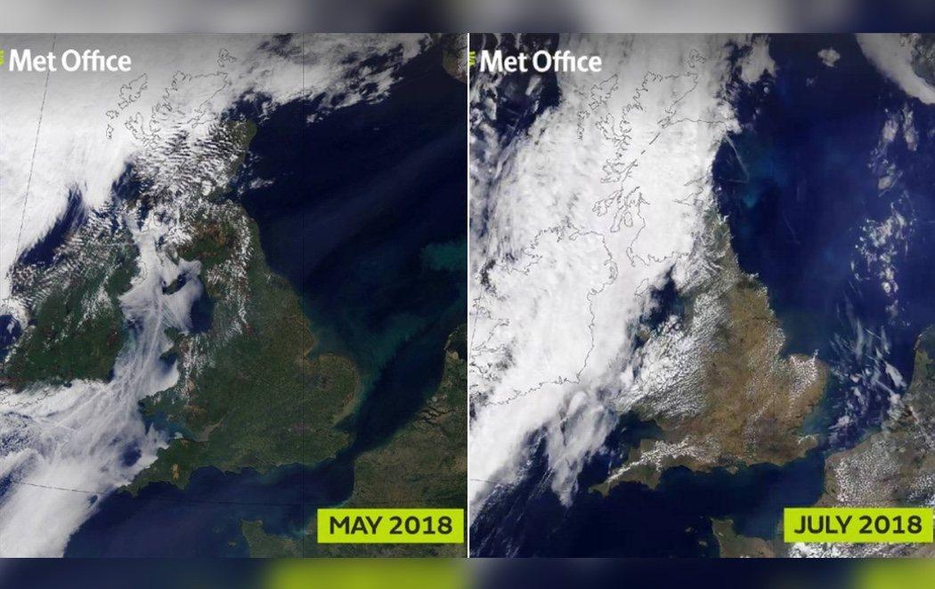 Calentamiento global: Reino Unido ya no es verde visto desde el Espacio