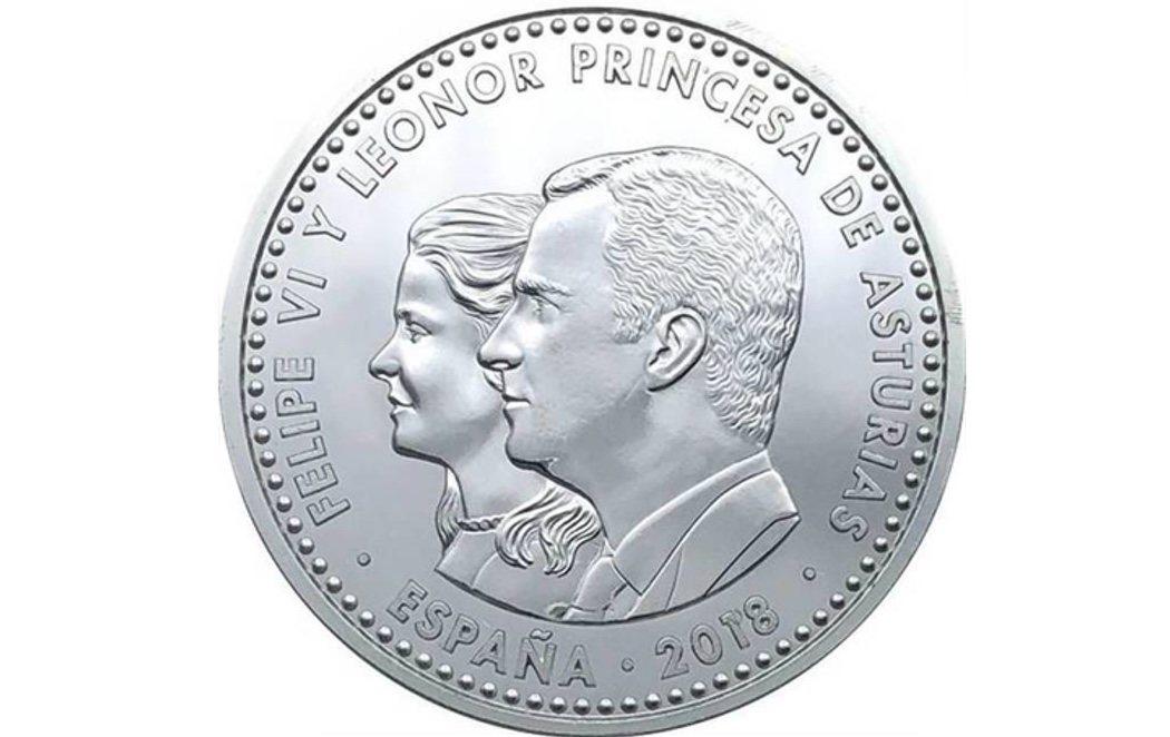 La nueva moneda con el rostro de una Princesa Leonor irreconocible