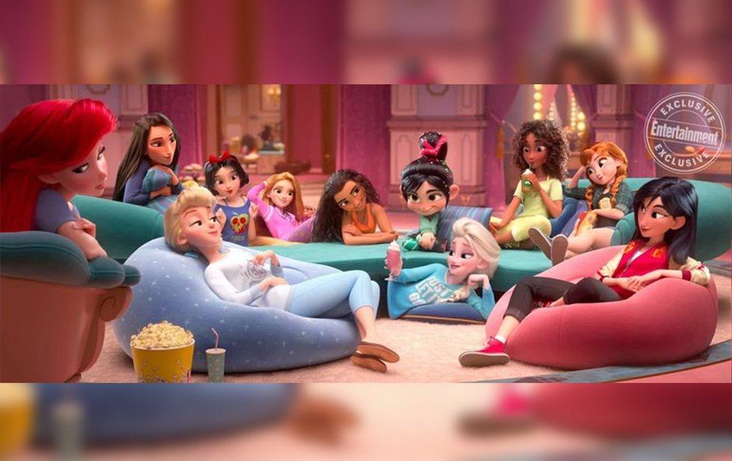 Fiesta de pijamas de las princesas Disney en la secuela de 'Rompe Ralph'