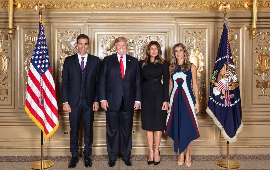 Encuentro oficial entre Sánchez y Trump con el polémico vestido de Begoña Gómez a 2.300 euros
