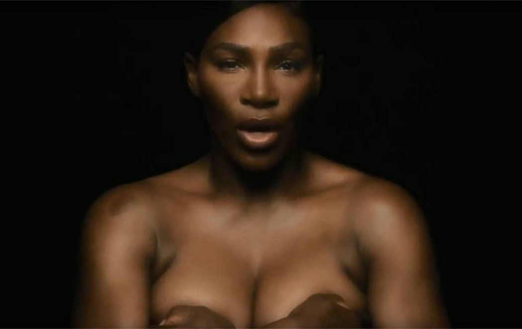 Serena Williams se desnuda contra el cáncer de mama