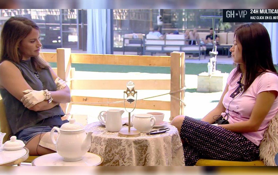 Mónica Hoyos y Miriam Saavedra intentan firmar la paz en 'GH VIP 6' tomando el té