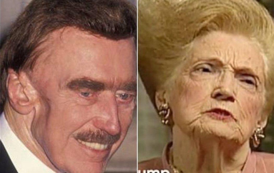 """""""Parecen dos personajes de una peli de Tim Burton"""": las redes arden con las fotos de los padres de Trump"""