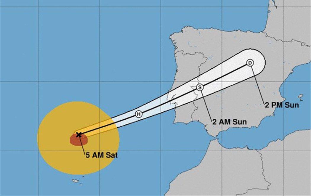 El huracán Leslie podría llegar a la Península Ibérica esta medianoche