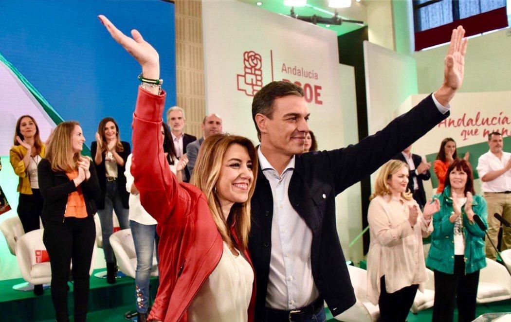 Pedro Sánchez se vuelca completamente en la candidatura de Susana Díaz