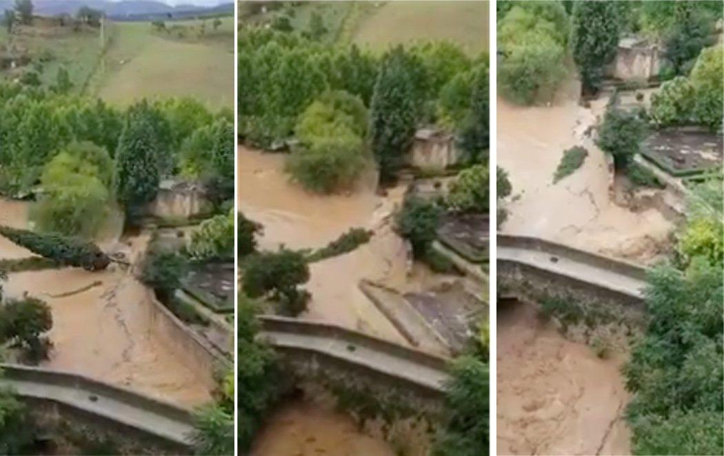 Las fuertes lluvias derrumban un muro de los baños árabes de Ronda construidos en el siglo XIII