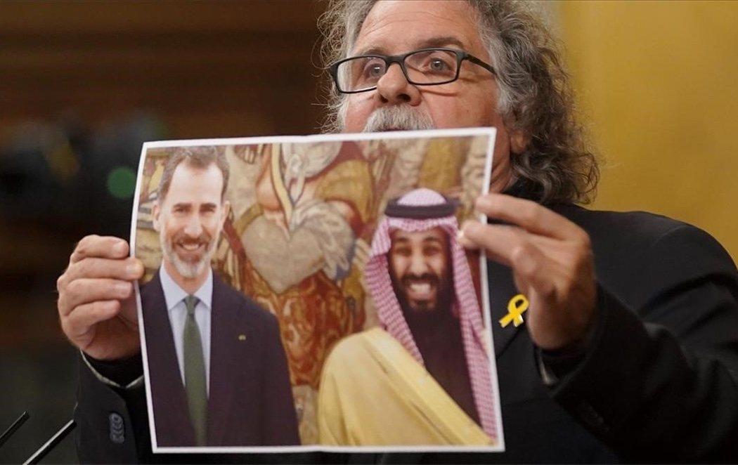"""Tardà muestra una foto de Felipe VI con el príncipe de Arabia Saudí: """"Son amigos de un violador de DDHH"""""""