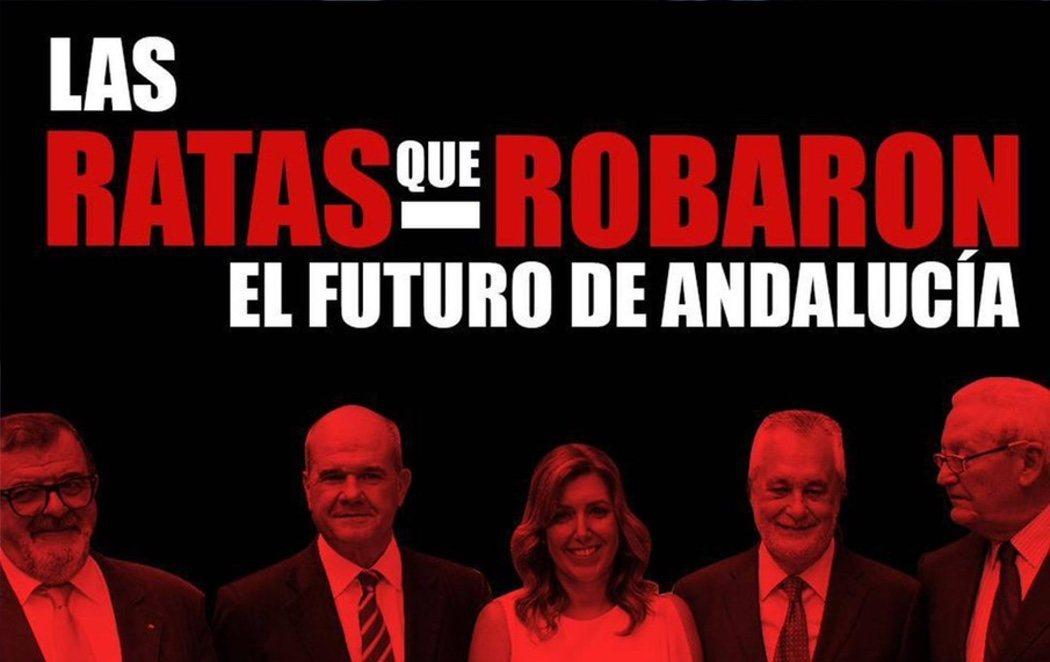 """La campaña de Nuevas Generaciones del PP en Andalucía: llamar """"rata"""" a Susana Díaz"""