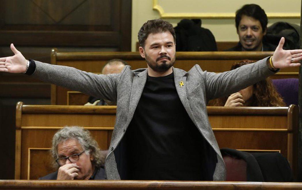 Rufián, expulsado del pleno del Congreso tras una fuerte bronca con Borrell